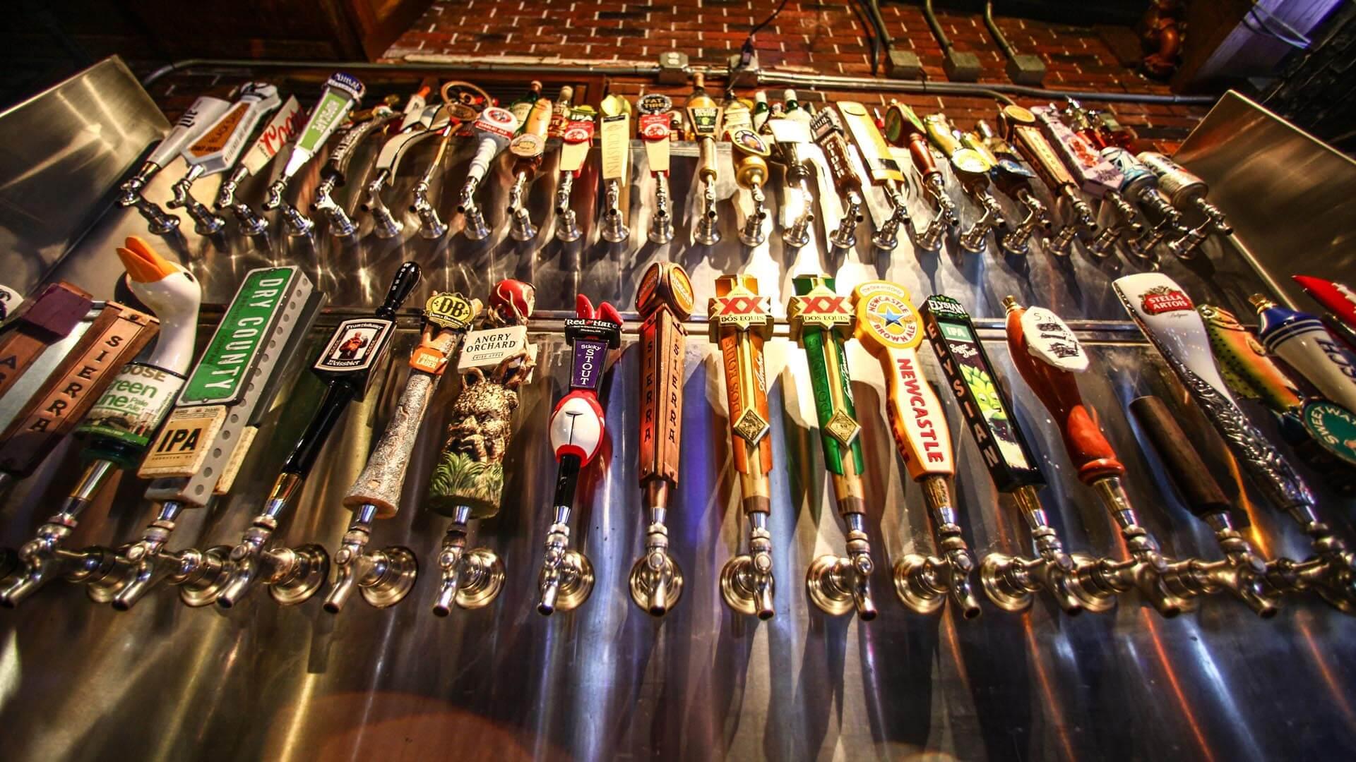 Huge Draft Beer Selection