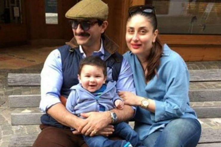 Saif Ali Khan and Kareena Kapoor with their son