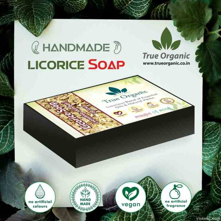 True Organic Licorice Soap