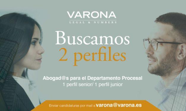 BUSCAMOS DOS PERFILES PARA REFORZAR NUESTRO DEPARTAMENTO PROCESAL