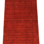Mod 2027 100 Wool Pile Hand Knotted In Pakistan Red Background With Black And Gold Touch Of Colors Gabbeh Style Modern Rug Varter S Oriental Rugs