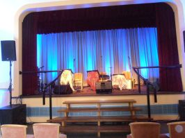 View to the stage.
