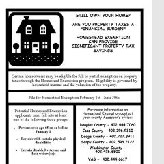 March – June  Homestead Exemption Assistance