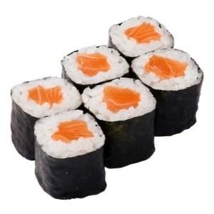 Маки ролл с копченым лососем