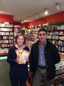 Alison, the delightful owner of The Wallingford Bookshop
