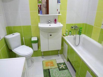 дизайн маленькой ванной комнаты 2018 7