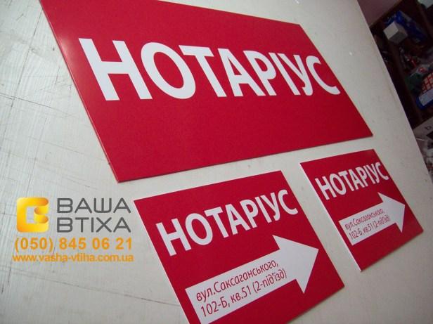 Замовити навігаціні таблички для ТЦ, офісу, фірми в Києві