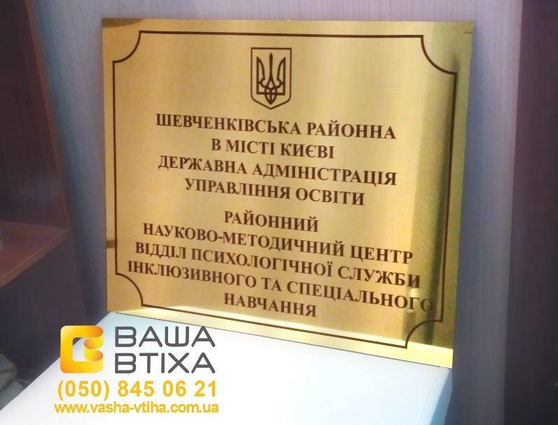 Табличка-вивіска, ціна, Київ