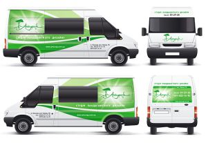 Заказать дизайн и поклейку рекламы на авто, реклама на транспорте недорого