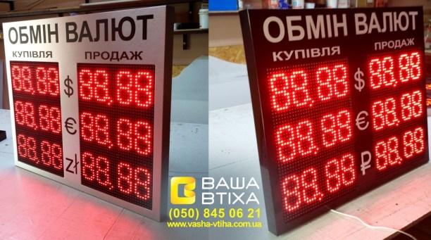 Заказать LED табло обмен валют, Киев