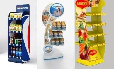 Замовити в Києві рекламні стійки для товарів