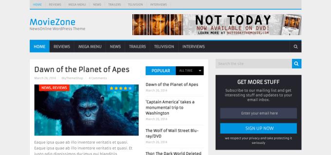 NewsOnline Theme demo Magazine