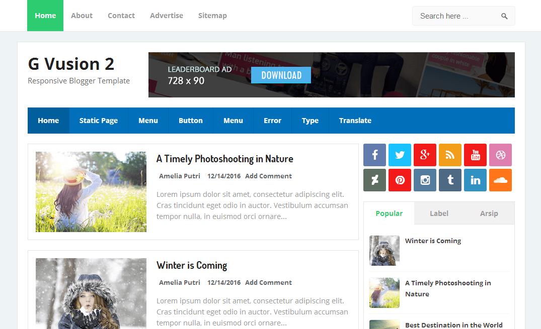 Best SEO Optimized Blogger Templates of 2017 - SEO Friendly Theme