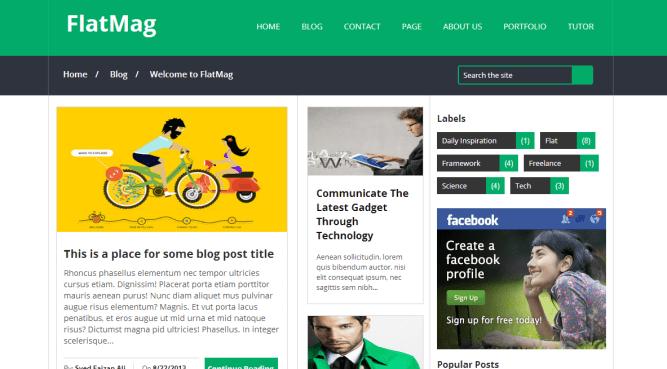flatmag blogger template
