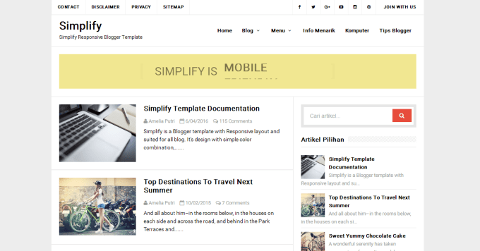 simplify blogger template