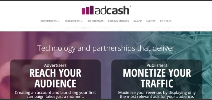 Adcash pop ad network