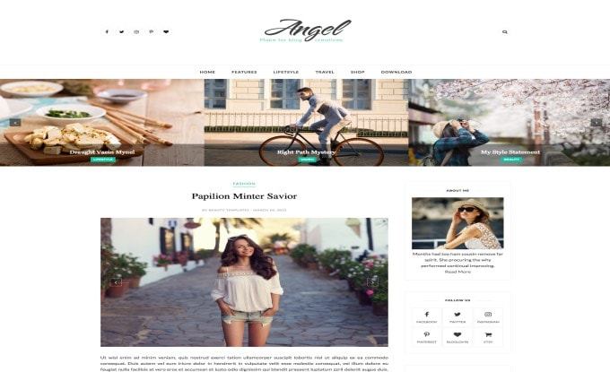 Angel Blogger Template