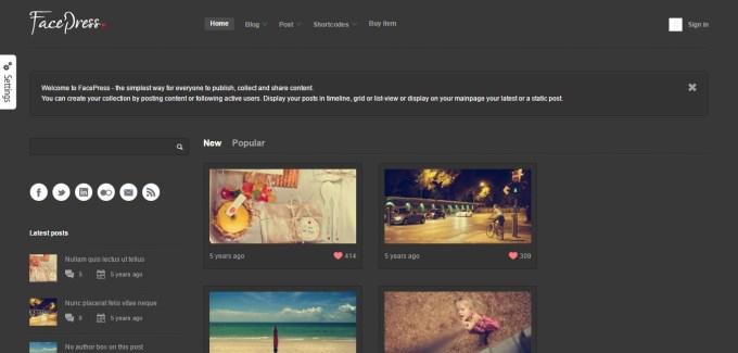 FacePress Community Content Sharing