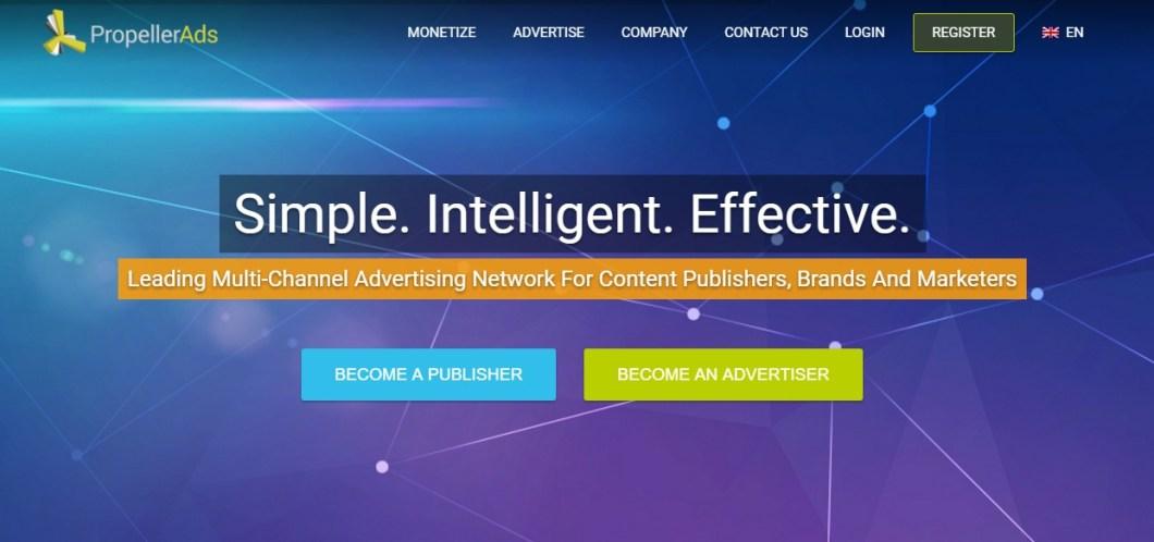 Propeller Ads pop ads network
