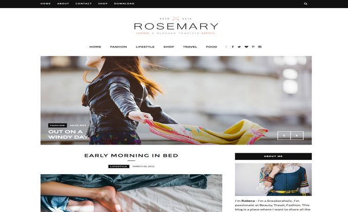 Rosemary Fashion Blogger Template