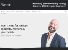 writer theme main section