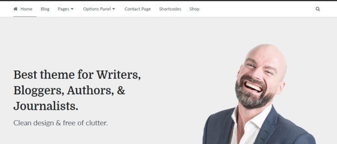 Writer Theme by MyThemeShop   A WordPress theme for Authors