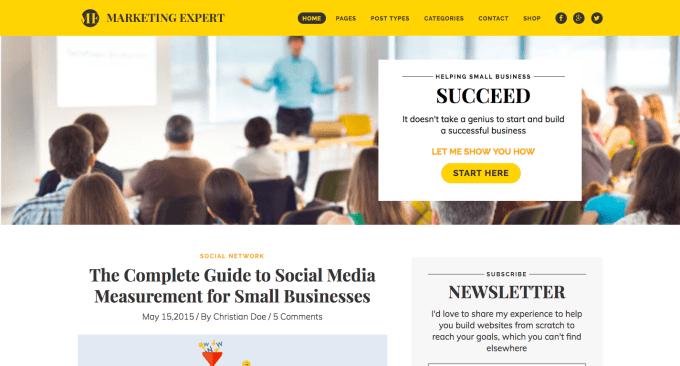 Expert Marketing Blog WordPress Theme