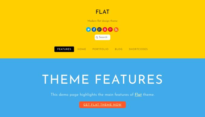 Flat themify flat theme
