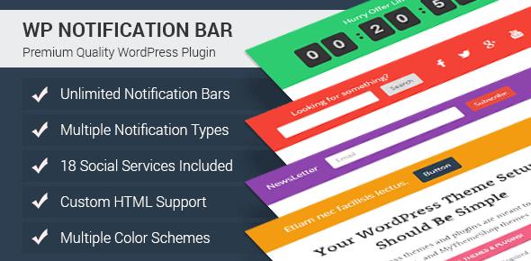 List of Top 10 Notification Bar WordPress Plugin