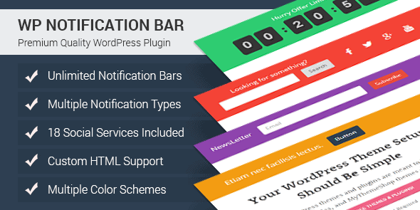 List of Top 10 Notification Bar WordPress Plugin