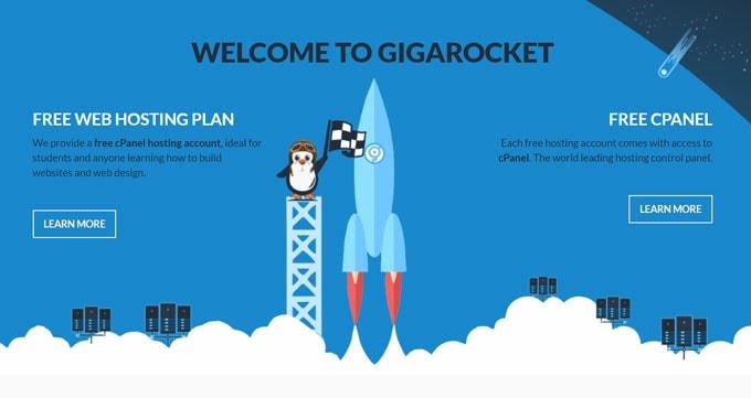 gigarocket-free-cpanel hosting
