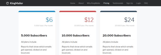 kingmailer email marketing
