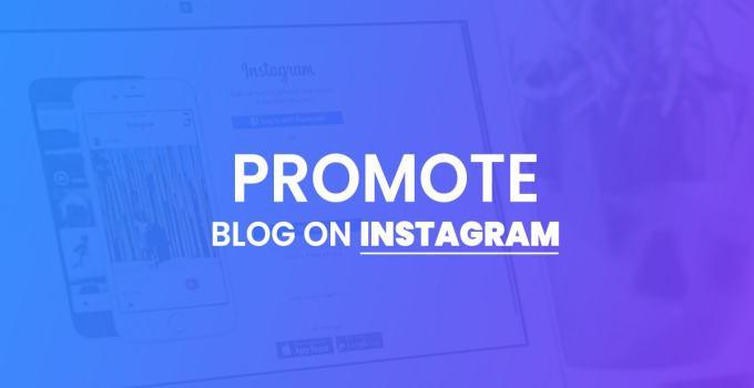 promote blog on instagram