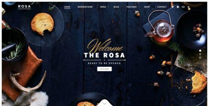 rosa wordpress theme for restaurants