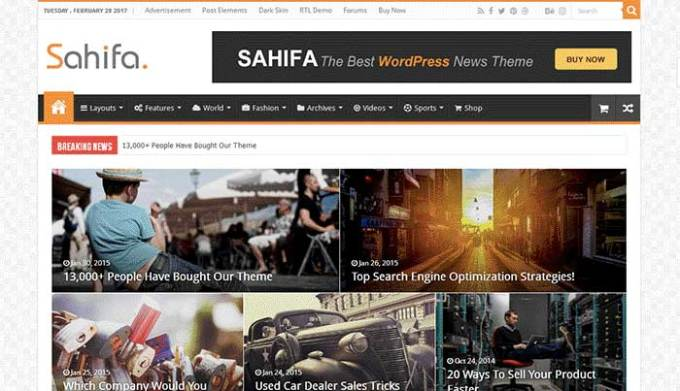 sahifa seo ready wordpress theme