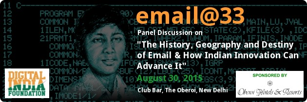 Dr. V.A. Shiva Ayyadurai At Email@33 – The History, Geography And Destiny Of Email & How Indian Innovation Can Advance It