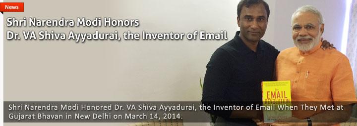 Narendra Modi Honors Dr. V.A. Shiva Ayyadurai, The Inventor Of Email