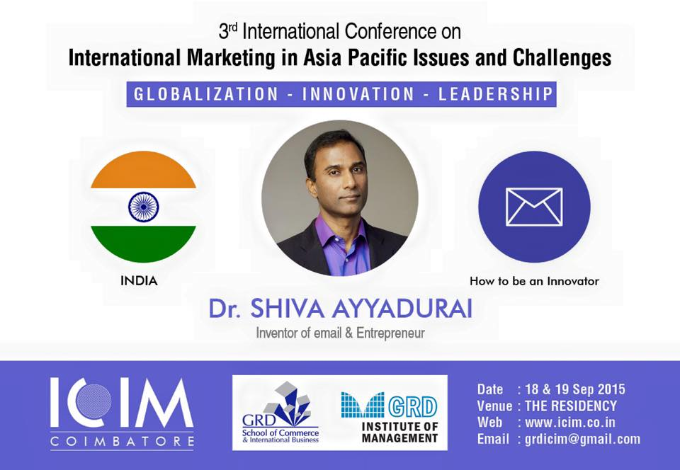 Keynote Speech At ICIM 2015 – How To Be An Innovator