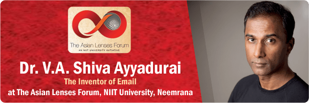 Dr. V.A. Shiva Ayyadurai Inventor Of Email And Systems Scientist The Asian Lenses Forum, NIIT University, Neemrana