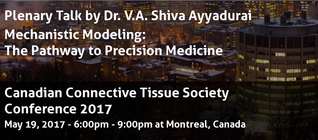 Plenary Talk At Canadian Connective Tissue Society Conference 2017