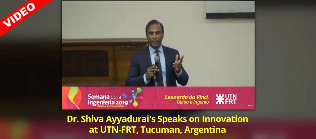 Dr. Shiva Ayyadurai Delivers Lecture On Innovation At UTN-FRT, Tucuman