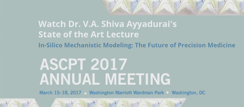 Dr. V.A. Shiva Ayyadurai Delivers State Of The Art Lecture At ASCPT 2017 Annual Meeting
