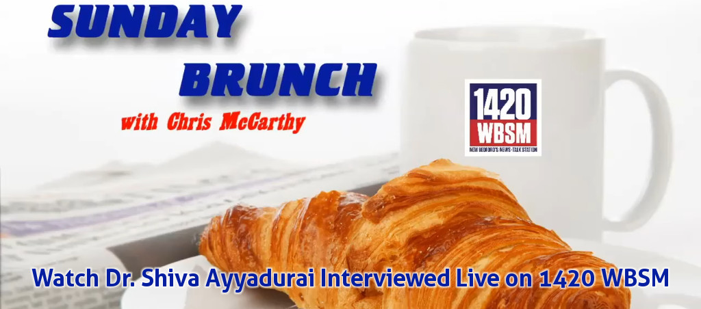 Watch Dr. V.A. Shiva Ayyadurai Live On Sunday Brunch With Chris McCarthy