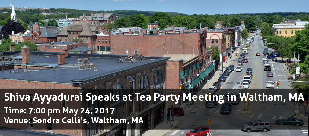 Shiva Ayyadurai Speaks At Tea Party Meeting In Waltham, MA
