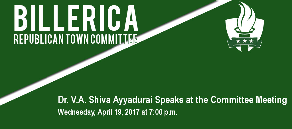 Dr. V.A. Shiva Ayyadurai Speaks At Billerica Republican Town Committee