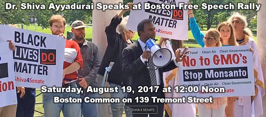 Dr. Shiva Ayyadurai Participates In Boston Free Speech Rally