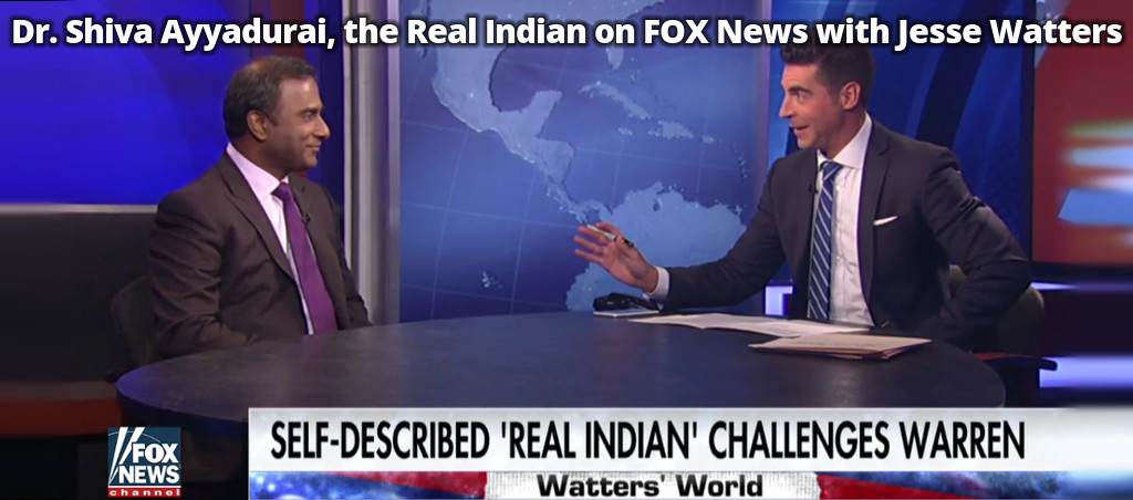 Dr. Shiva Ayyadurai, The Real Indian On FOX News With Jesse Watters