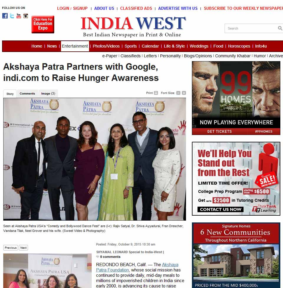 Akshaya Patra Partners With Google, Indi.com To Raise Hunger Awareness