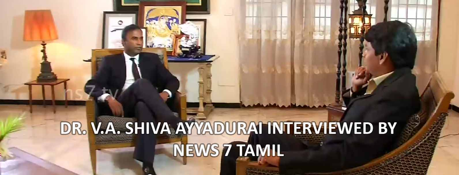 Dr. V.A. Shiva Ayyadurai Interviewed By News 7 Tamil TV Channel