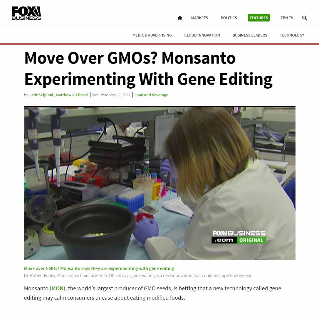 Move Over GMOs? Monsanto Experimenting With Gene Editing